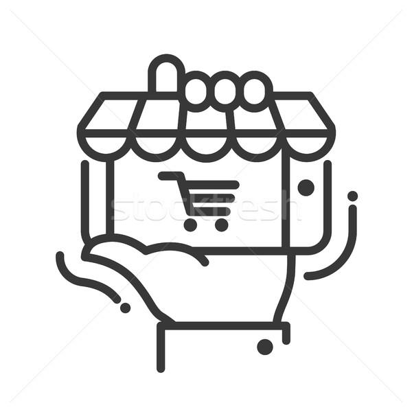 Icon geïsoleerd moderne vector lijn Stockfoto © Decorwithme