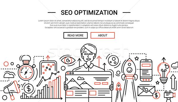 Seo optimizasyon hat dizayn web sitesi afiş Stok fotoğraf © Decorwithme