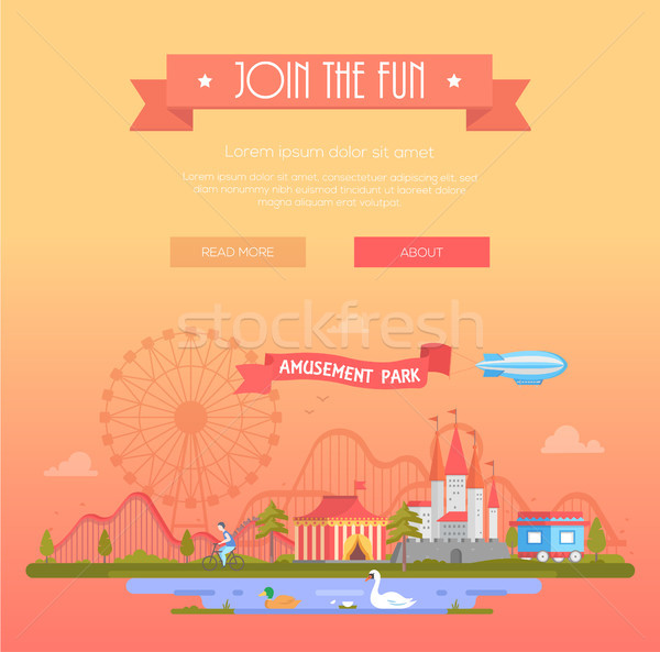 Join the fun - modern vector illustration Stock photo © Decorwithme