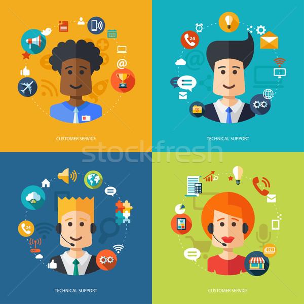 Illustratie ontwerp business technische ondersteuning vector computer Stockfoto © Decorwithme