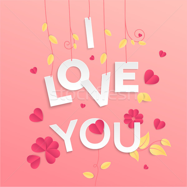 I love you - modern vector colorful illustration Stock photo © Decorwithme