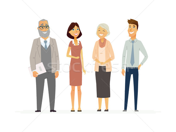 Business People - modern vector flat composition. Stock photo © Decorwithme