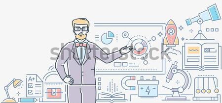 男 着用 バーチャル 現実 眼鏡 ストックフォト © Decorwithme