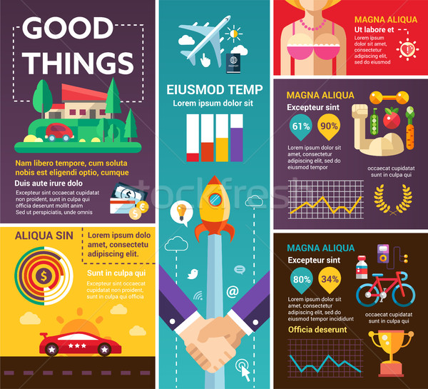 Good Things - poster, brochure cover template Stock photo © Decorwithme