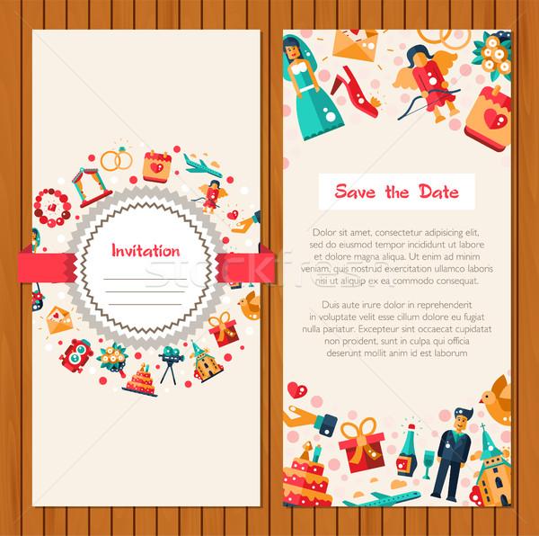 Foto d'archivio: Design · wedding · matrimonio · modello · vettore
