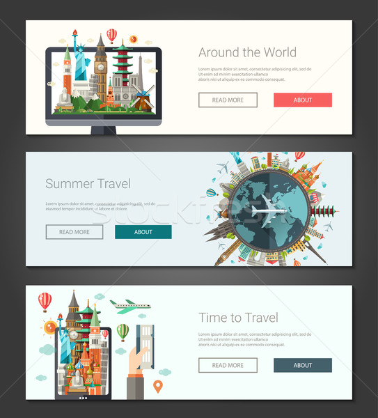 デザイン バナー セット 実例 世界 有名な ストックフォト © Decorwithme