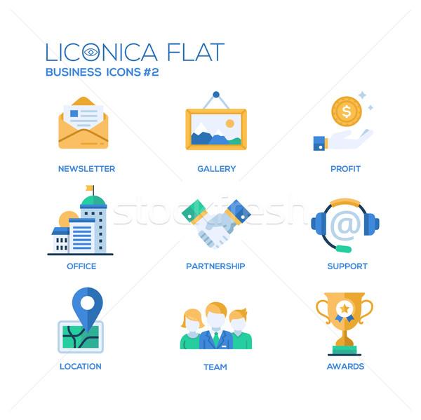 Stockfoto: Ingesteld · moderne · kantoor · ontwerp · iconen · pictogrammen