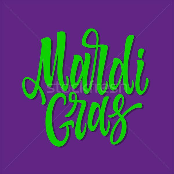 Mardi Gras - vector hand drawn brush pen lettering Stock photo © Decorwithme