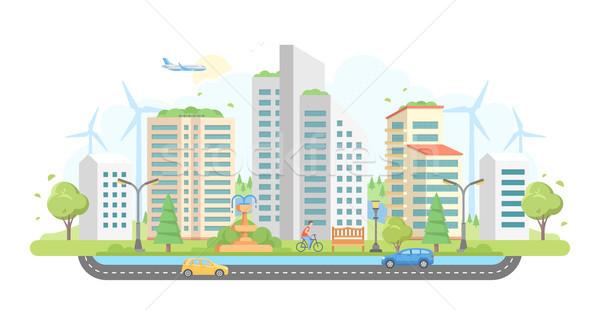 景観 現代 デザイン スタイル 白 住宅 ストックフォト © Decorwithme