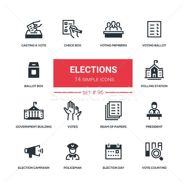 выборы дизайна стиль голосование голосование Сток-фото © Decorwithme