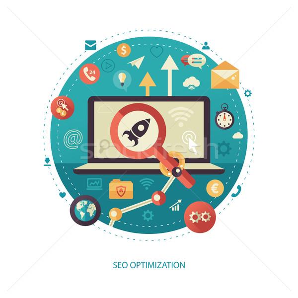 Seo otimização projeto negócio começar para cima Foto stock © Decorwithme