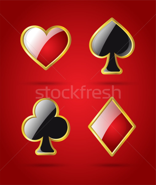 Poker card suits - modern vector isolated clip art Stock photo © Decorwithme