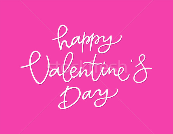 Happy Valentines Day - vector hand drawn brush pen lettering Stock photo © Decorwithme