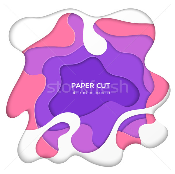 ストックフォト: 抽象的な · レイアウト · ベクトル · 紙 · カット