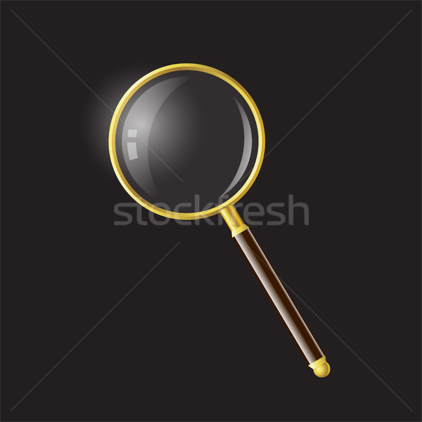 Magnifying glass - modern vector realistic isolated object illustration Stock photo © Decorwithme