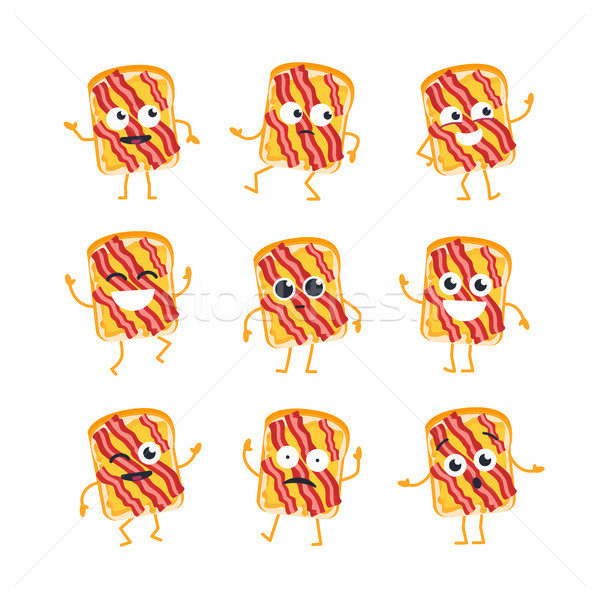 Sandwich vecteur mascotte illustrations Photo stock © Decorwithme
