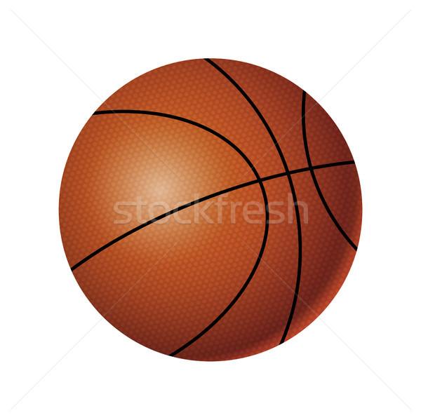 Basketbal moderne vector realistisch geïsoleerd object Stockfoto © Decorwithme