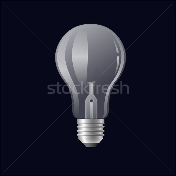 Single light bulb - modern vector realistic isolated illustration Stock photo © Decorwithme