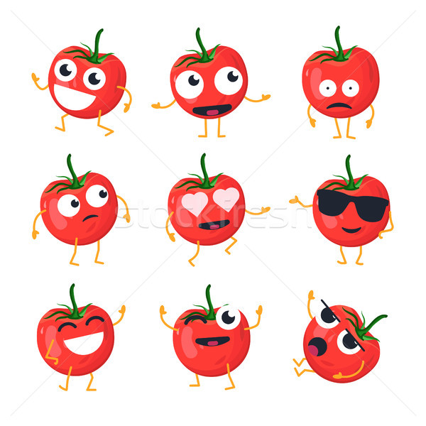 Funny tomate vector aislado Cartoon Foto stock © Decorwithme