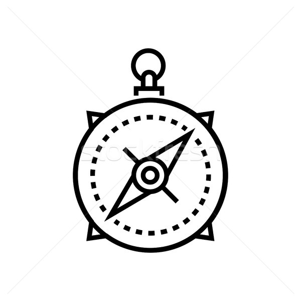 Compass - line design single isolated icon Stock photo © Decorwithme