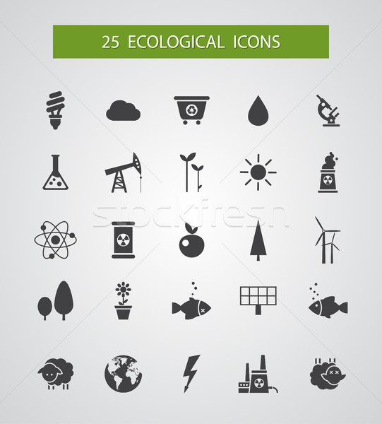 Modern flat design conceptual ecological icons Stock photo © Decorwithme