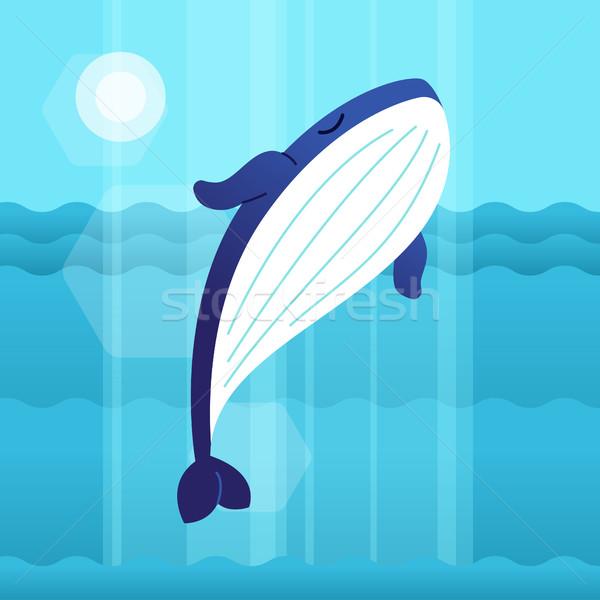 Baleia moderno vetor ilustração Foto stock © Decorwithme