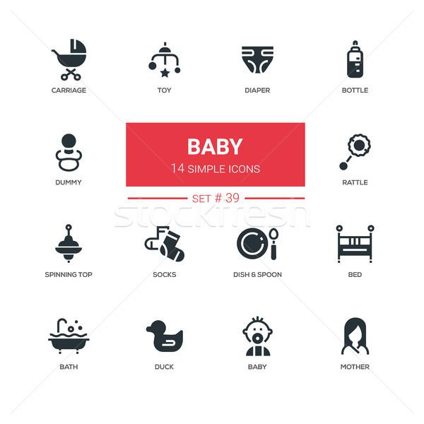 Bébé ligne design maternité enfants Photo stock © Decorwithme