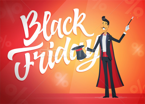 Black friday illustratie schoonschrift tekst Stockfoto © Decorwithme