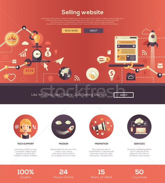 Terv elad weboldal fejléc szalag webdesign Stock fotó © Decorwithme