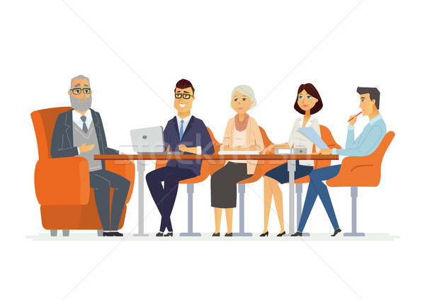Business Meeting - modern vector cartoon characters illustration Stock photo © Decorwithme