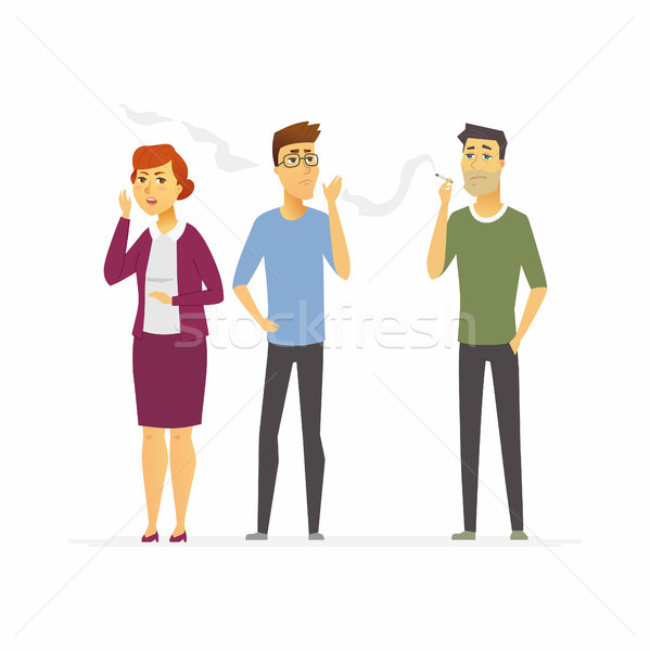 Stop smoking - cartoon people character isolated illustration Stock photo © Decorwithme