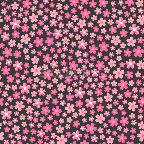Stok fotoğraf: örnek · dizayn · pembe · çiçekler · vektör