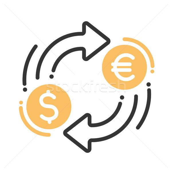 Währung Austausch Symbol isoliert modernen Vektor Stock foto © Decorwithme