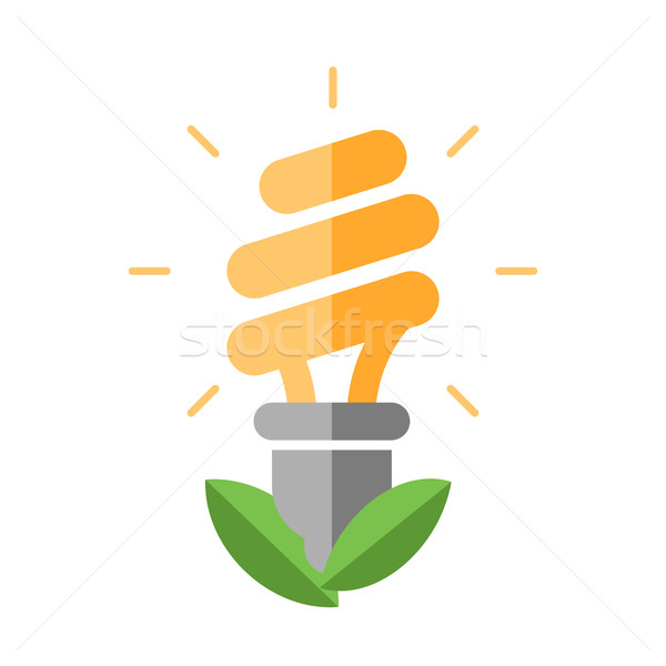 Energy Saving - flat design single icon Stock photo © Decorwithme