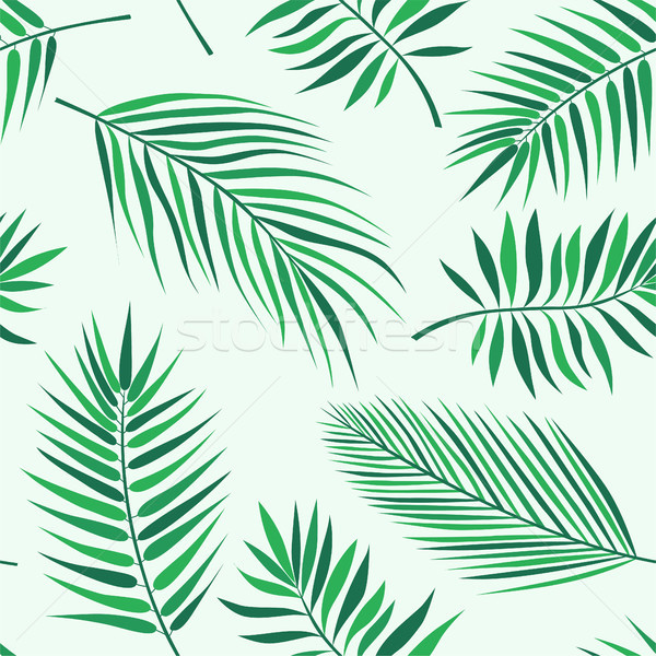 Tropical palm leaves pattern - seamless modern material design background Stock photo © Decorwithme
