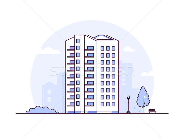 Cityscape moderno fino linha projeto estilo Foto stock © Decorwithme
