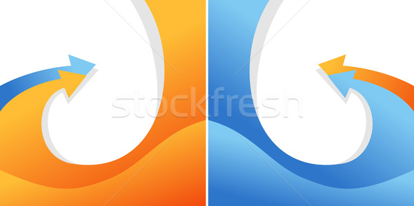 Illustration of isolated bent vector arrows Stock photo © Decorwithme
