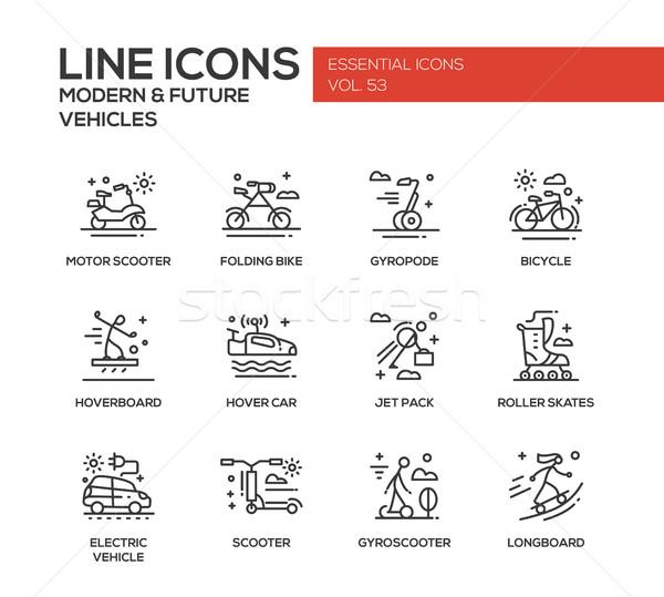 Stockfoto: Moderne · toekomst · voertuig · lijn · ontwerp