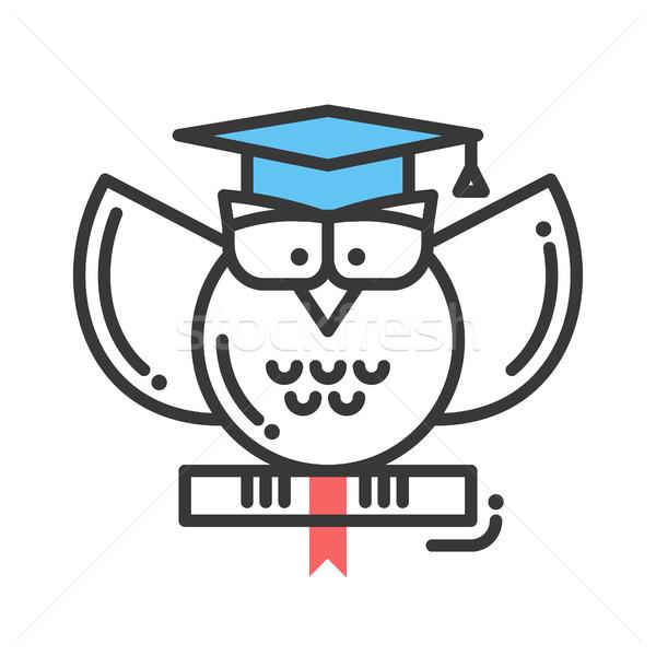 éducation design isolé icône école vecteur Photo stock © Decorwithme