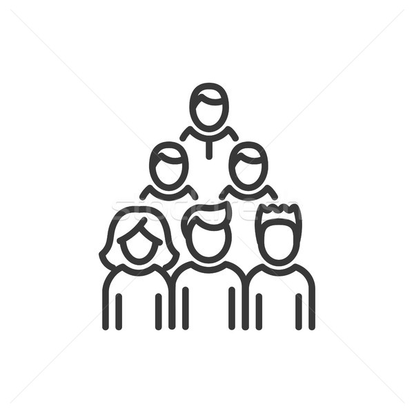 Voters - line design single isolated icon Stock photo © Decorwithme