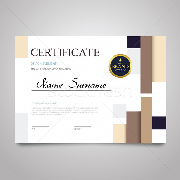 Certificate - horizontal elegant vector document Stock photo © Decorwithme