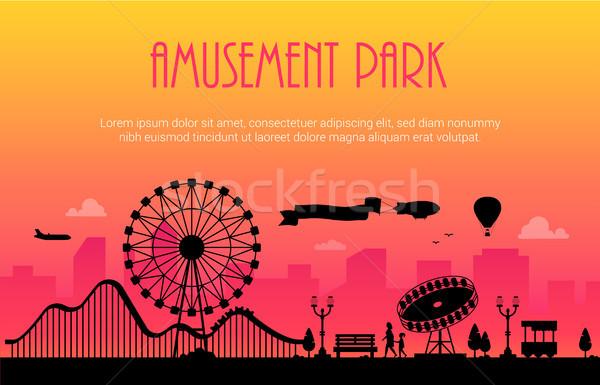 Parco di divertimenti moderno luogo testo urbana grande Foto d'archivio © Decorwithme