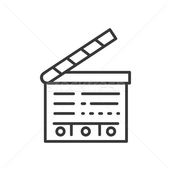 行 デザイン 孤立した アイコン 白 高い ストックフォト © Decorwithme