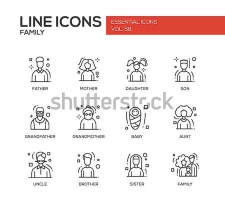 Teen problemen lijn ontwerp ingesteld Stockfoto © Decorwithme