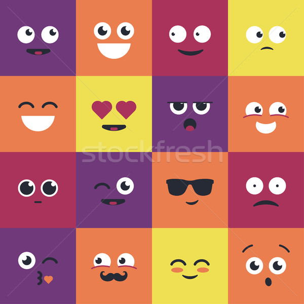 Smiley - modern vector set of emoji illustrations. Stock photo © Decorwithme