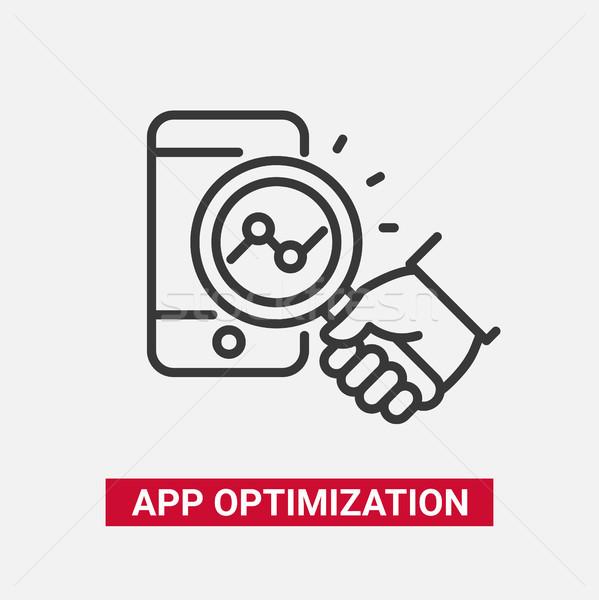 App optimalisatie moderne vector lijn ontwerp Stockfoto © Decorwithme