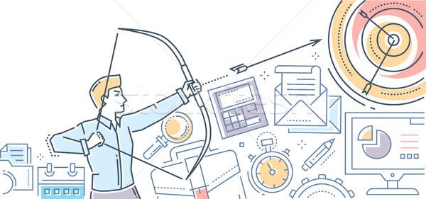 бизнесмен целевой современных дизайна стиль красочный Сток-фото © Decorwithme