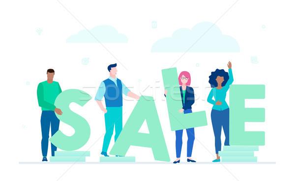 Sale - modern flat design style colorful illustration Stock photo © Decorwithme