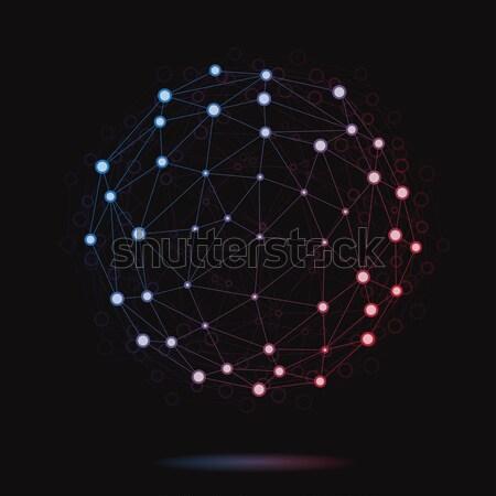 実例 現代 ベクトル アトミック 球 抽象的な ストックフォト © Decorwithme