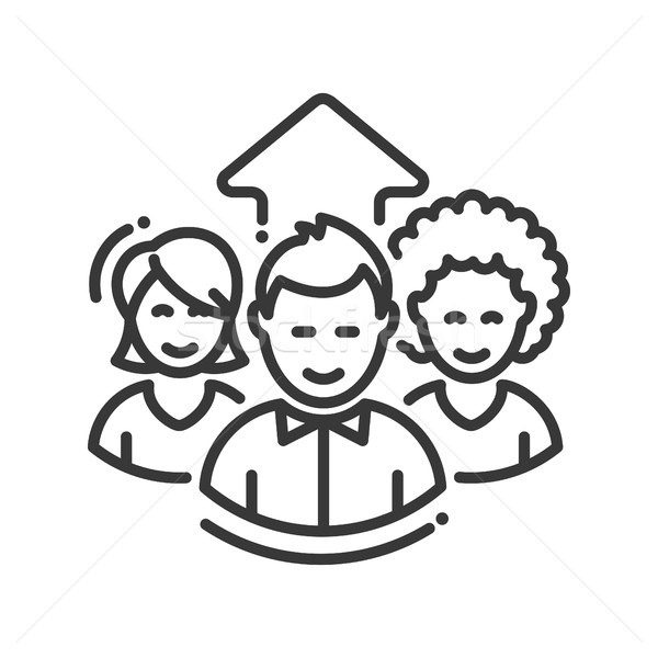 Business team work single icon Stock photo © Decorwithme
